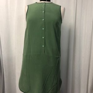 Fossil Women's Dress Apple Green Silk Size 2